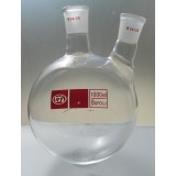 Flask, Round Bottom Boiling Flask,    Double Necks, 1000ml  24/29
